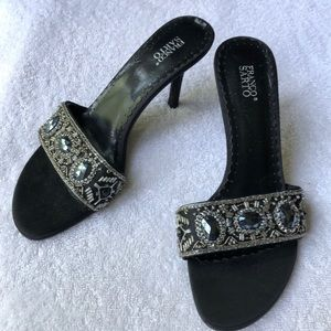 Franco Sarto Beaded slip on heels